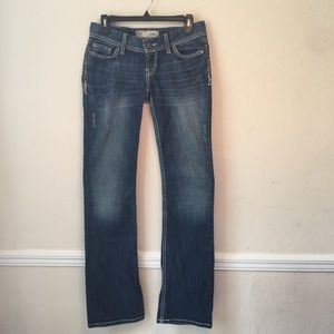 BKE Stella Crystal Boot Jeans LONG Length